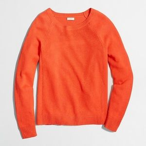 J.CREW Linen-cotton beach sweater orange crewneck